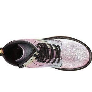 1460 DR MARTENS Patent Glitter Junior Delaney Boot